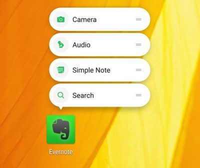 Ever-note app shortcuts